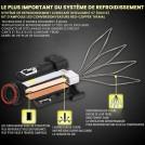 Kit  2x Ampoules LED H7 de Voiture 55W 6500K 12000LM 12V - Garantie à Vie