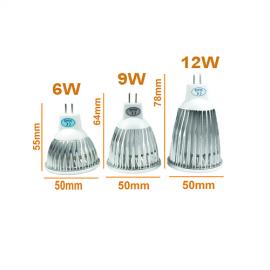 Ampoule LED GU5.3 12 V - 6 à 12 Watts