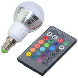 Ampoule LED E14 RGB - 3 Watts - Forme Classique