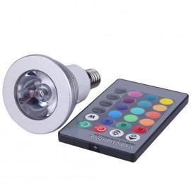 Ampoule LED spot RGB 3W E14