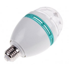 Ampoule LED E27 3W 300LM RGB Auto Rotative